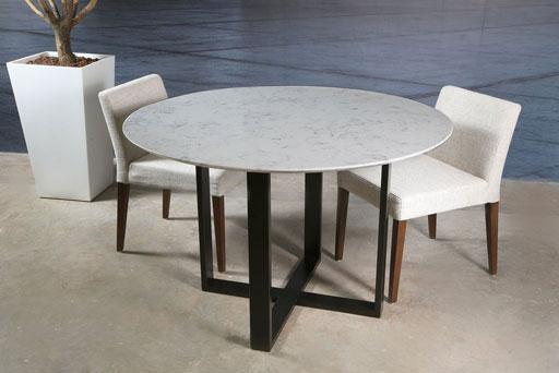 AQ619-Carrara-White-Quartz-Dinning-Table