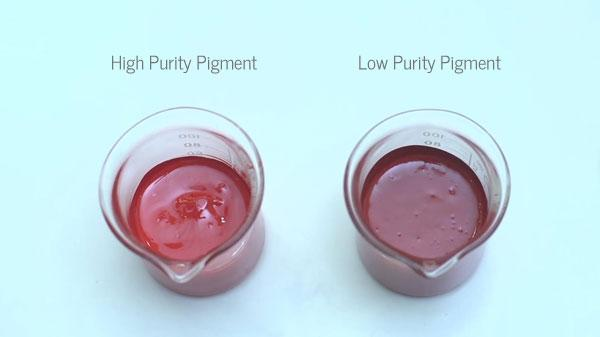 High Purity Pigment vs Low Quality Pigment