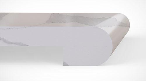 Quartz Countertops Laminated Bullnose Edge